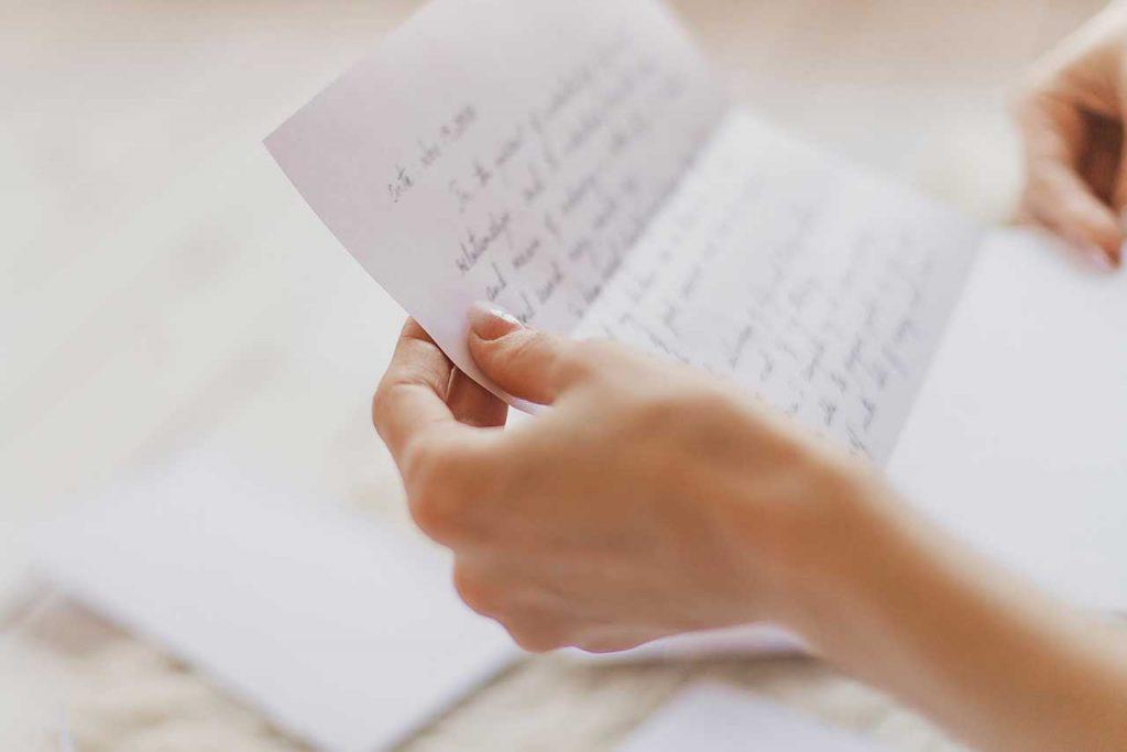 List nieformalny po angielsku