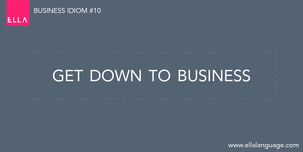 idiom biznesowy
